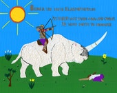 Behold the First Rider -- The White Elasmotherium of Conquest