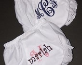 SET OF 2 - Personalized Baby Bloomer Diaper Covers - You Choose Colors and Fonts
