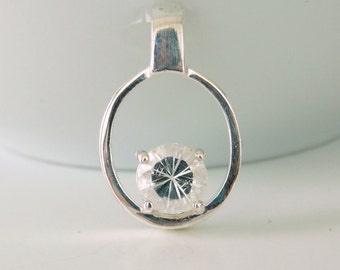Sterling Silver and White Topaz Pendant