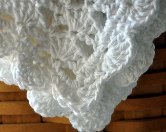 Cotton Baby Blanket, Crochet, an Heirloom in the making