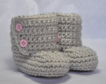 Button Top Baby Boot Bootie size 6 to 12 Months