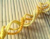 Shades of Golden Yellow Friendship Bracelet Set - Four Thin Handmade Bracelets