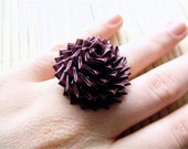 Maroon Duct Tape Rose Ring