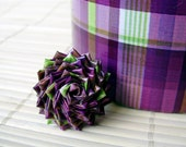 Purple and Green Duck Tape Ring - Limited Edition Plaid Duct Tape Ring