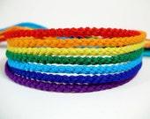 Black Friday/Cyber Monday Sale - ROYGBIV Rainbow Friendship Bracelet Set - Seven Handmade Bracelets
