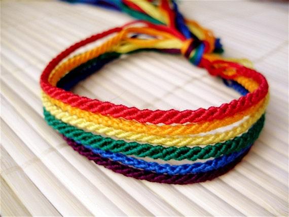 Items Similar To Rainbow Friendship Bracelet Set On Etsy