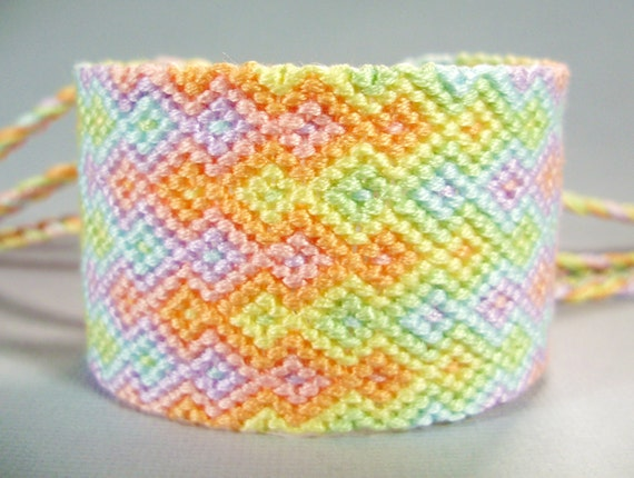 Pastel Rainbows Friendship Bracelet