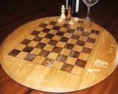 Wine Barrel Chess/ Checkers Board