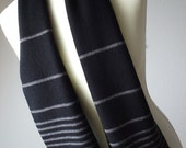 Merino Wool Scarf - Black