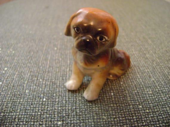 vintage porcelain  puppy knick-knack