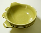 Russel Wright American Modern - Small Lug Bowls - Chartreuse Yellow (4)