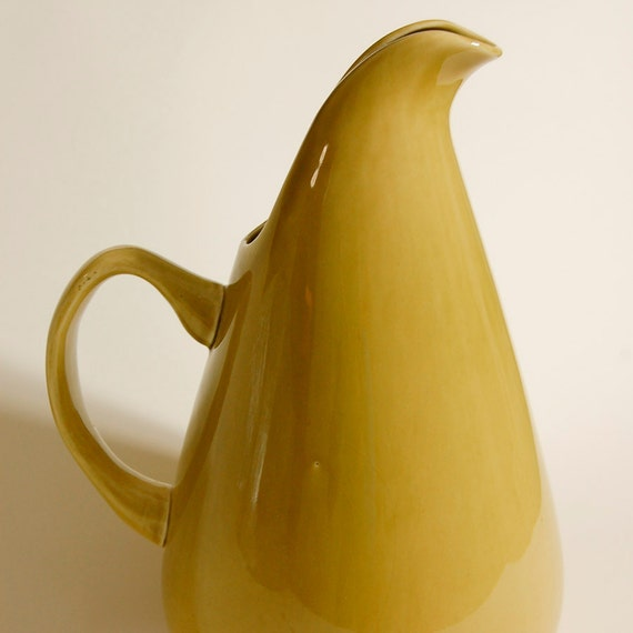 Items similar to russel wright american modern pitcher chartreuse on etsy - Russel wright pitcher ...