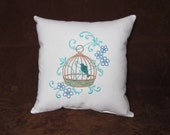 Decorative Spring Birdcage Pillow