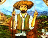 Confirmation gift Saint for urban farms and Spring Farmers - San Ysidro the Farmer