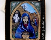 St religious christian woman gift SAINT JOANNA RETABLO - art4thesoul Print