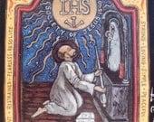 Retablo Jesuit Spanish Colonial - St. Ignatius of Loyola Saint Ignatius -  alumni gift retablos