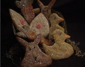 Aged Primitive Spring or Easter Sugar Cookies Bowl Fillers, Ornies, Tucks  E-Pattern