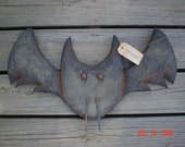 BEWARE Fall Halloween 25 Inch Long Vampire Bat Door Doll. E Pattern