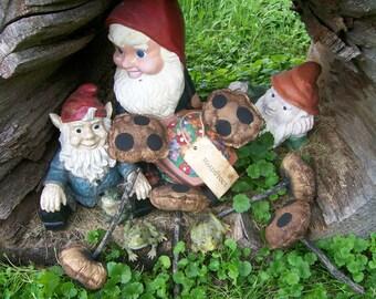 Primitive Folk Art Toadstools - 6 Mushroom Bowl Fillers