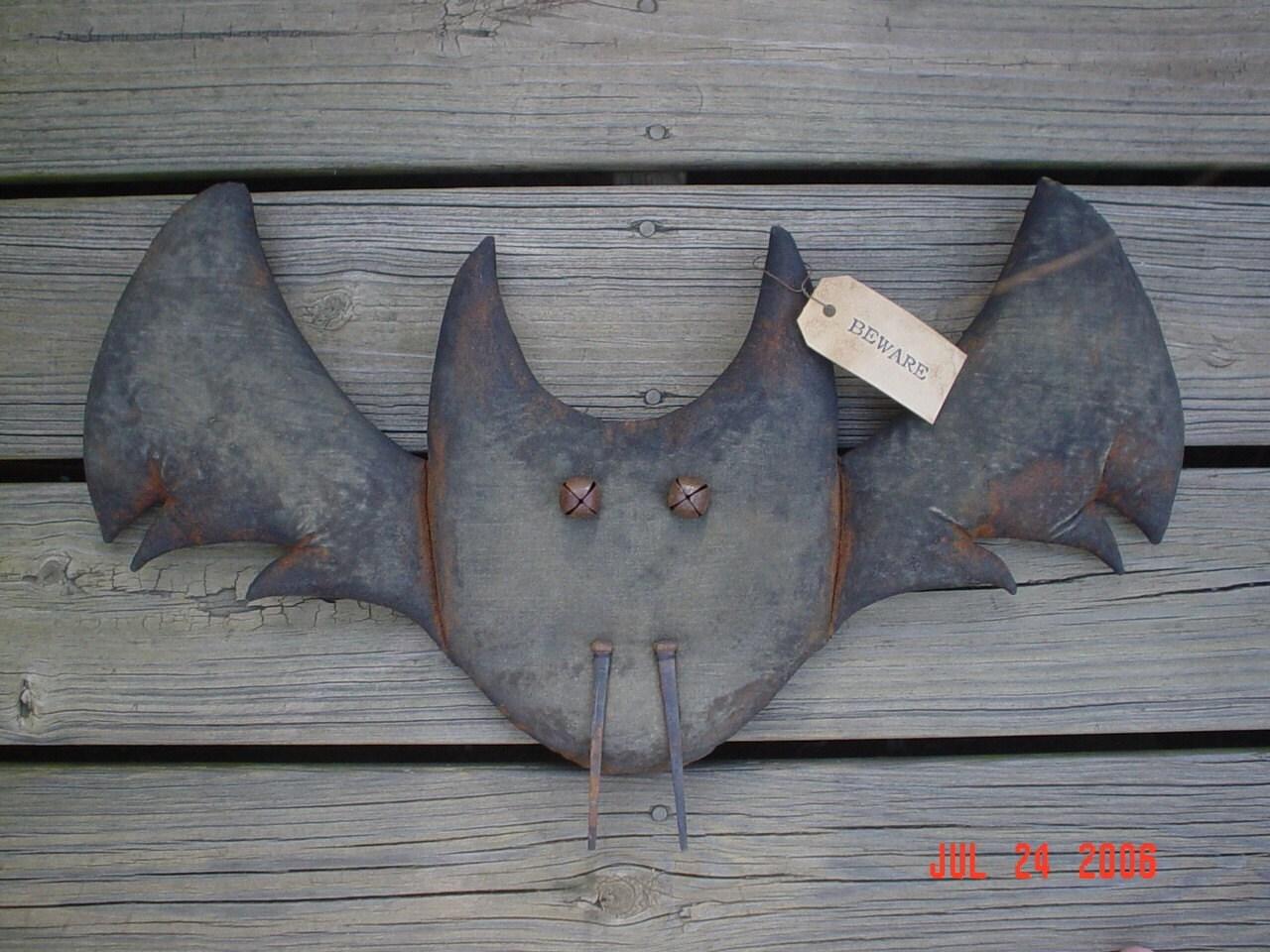 Beware Fall Halloween 25 Inch Long Vampire Bat Door Doll E