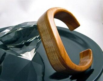 Clearance Item: Handmade Cherry and Maple cuff bracelet