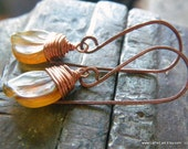 RUSTIC PETAL earrings - brown