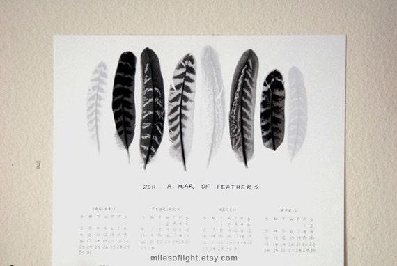 2011 Feathers Calendar (2) - 8.5x11