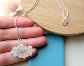 Sterling silver - Cloud necklace - medium