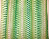 VTG Striped Bright Greens Open Weave Curtains