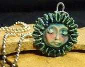 Handmade Ceramic Necklace - Bursting with Sunshine