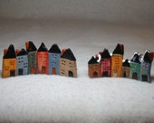 Mini Christmas Village  Row Houses FREE SHIPPING           SALE