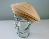 Beatnik Beret Vintage 1940s Tan Creamsicle Spiral Hat Mr. Leo