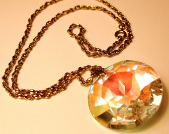 real vintage crystal necklace