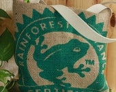 Burlap Rainforest Tote