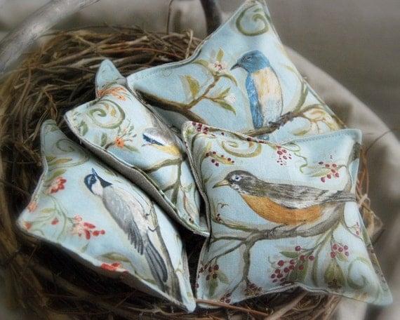 Birds Organic Lavender Sachets Set of Two