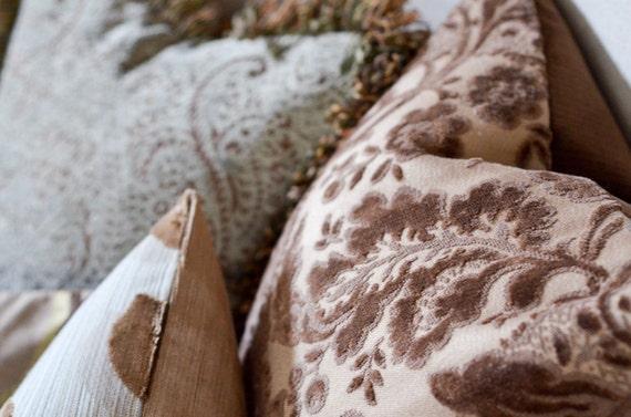 16x16 Designer Cut Velvet Pillow - Custom Order for LS