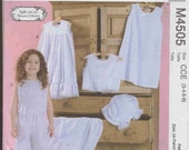 McCall,s M4505 Girls intimate wardrobe pattern from Ruffles and Lace Treasured Collection