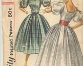 Simplicity 2132 Vintage 50s Junior size Dance Dress Pattern