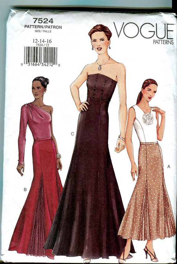 Vogue 7524-  Fit and flare skirt Pattern UNCUT