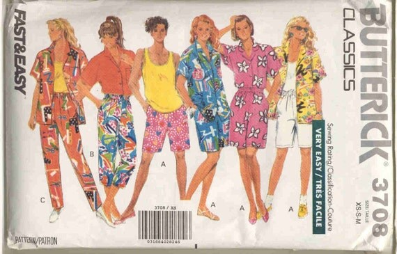 Butterick 3708 Beach Vacation Wardrobe Pattern