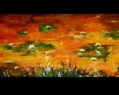 Water Lilies - Original Abstract acrylic Painting