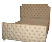 Upholstered Tufted Bed - Linen  or Velvet - King Size Many colors