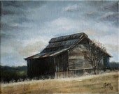 Old Tennessee Barn - 10x8in Original Oil Painting
