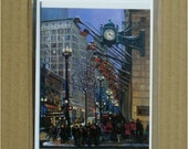 Chicago Holiday Scene Card, Individual Blank St. Street Christmas Card
