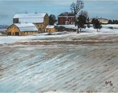 Midwest Homestead Original Oil Painting - 14x11 in On Line