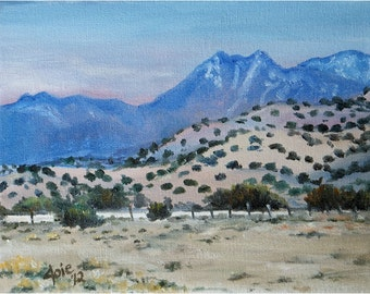 New Mexico Original Oil Painting - 10x8in