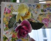 yellow chintz mosaic mirror--for sandra only
