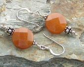 Sacral Chakra - Sterling silver and Red Aventurine earrings - Chakra Jewelry