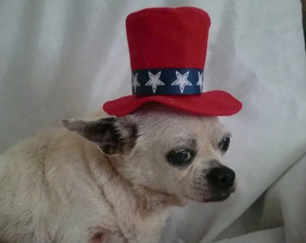 Dogs, Cats, Pets UNCLE SAM Top  HAT