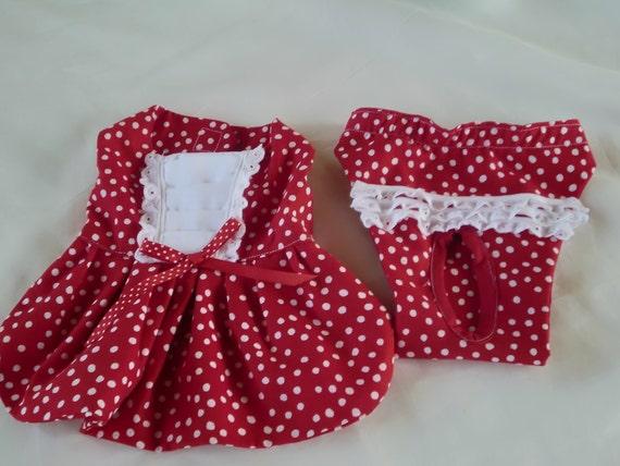 Dog Dress and Diaper Set